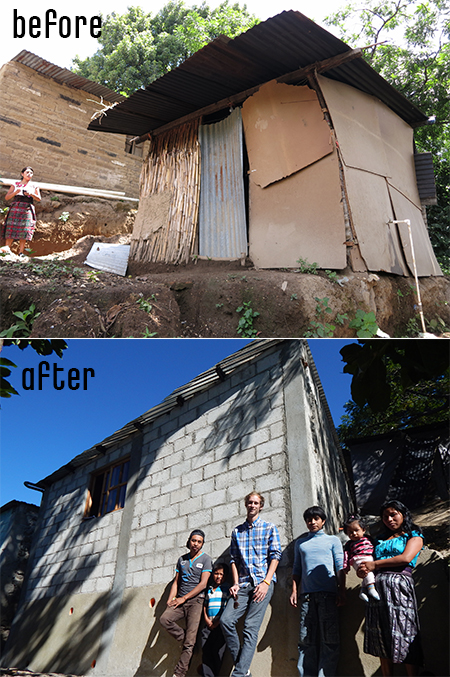 Before and After ODIM House